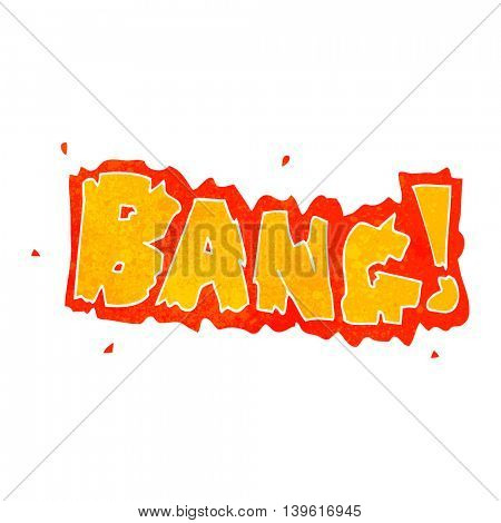 freehand retro cartoon bang symbol