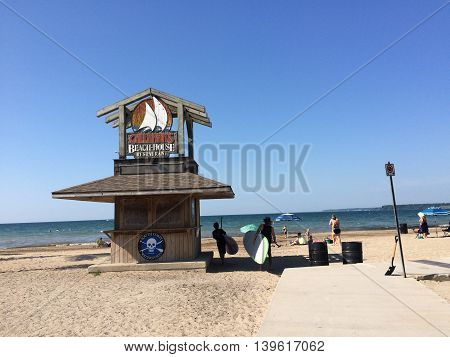 Canada, August 2015, Norfolk County, Ontario, Turkey Point, Beach house restaurant