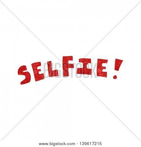 freehand retro cartoon selfie symbol