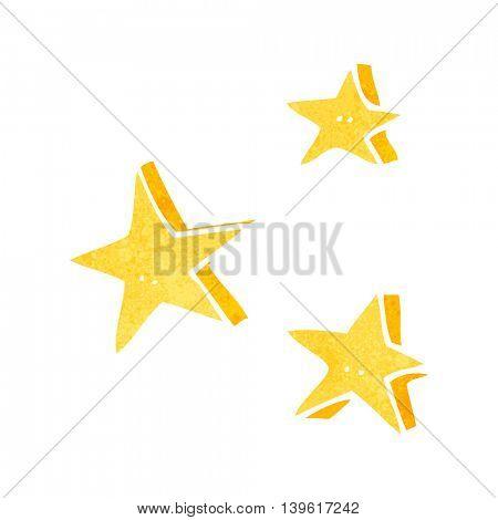 freehand retro cartoon decorative doodle stars