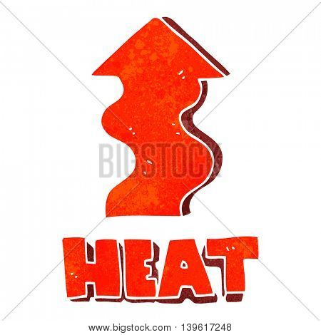 freehand retro cartoon heat rising