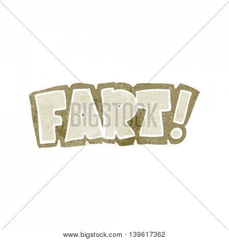 freehand retro cartoon fart symbol