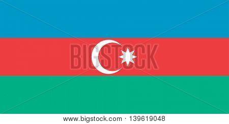 Vector Republic of Azerbaijan flag