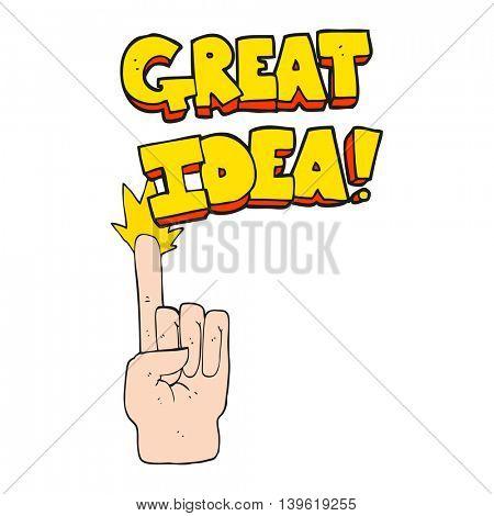 freehand drawn cartoon great idea symbol