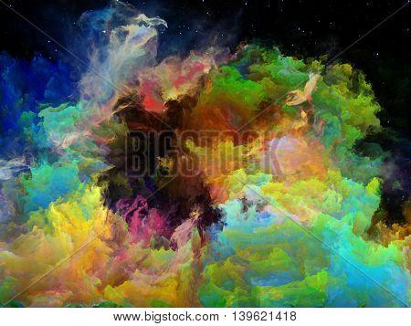 Unfolding Of Space Nebula