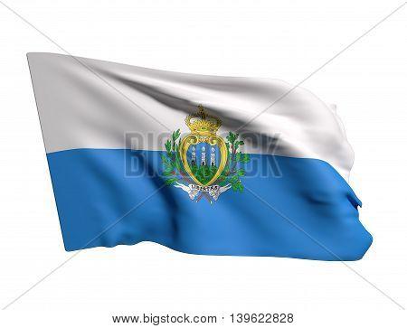 San Marino Flag Waving