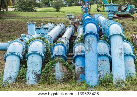 Big Blue Color Main Pipe For Water Supply