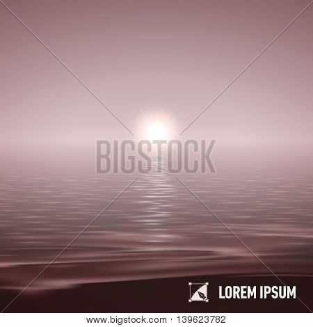 Sunshine over calm water surface tinted image split view