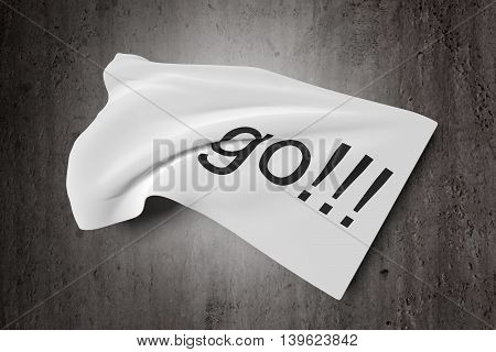 Waving Banner With Go Word