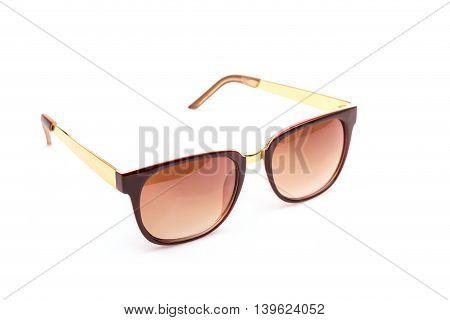Close Up Black Eye Glasses Isolated On White