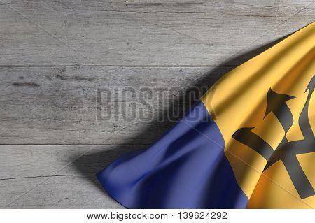 Barbados Flag Waving
