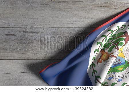 Belize Flag Waving