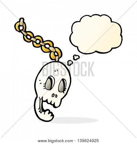 cartoon chain with thought bubble