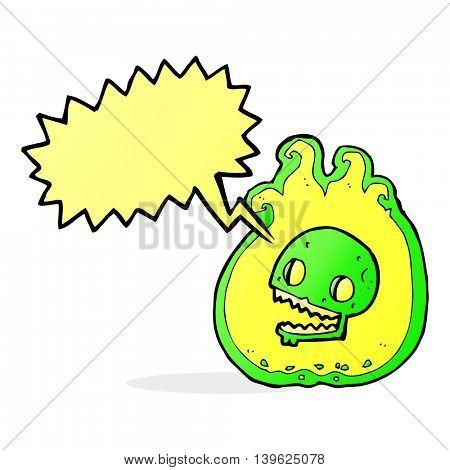 cartoon halloween flame border with speech bubble