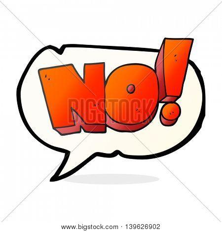 freehand drawn speech bubble cartoon NO! shout