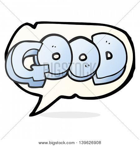 freehand drawn speech bubble cartoon Good symbol