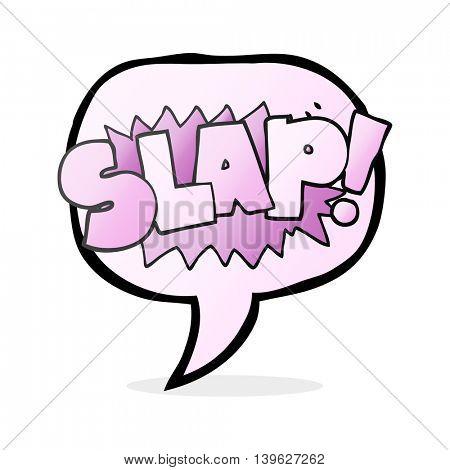 freehand drawn speech bubble cartoon slap symbol