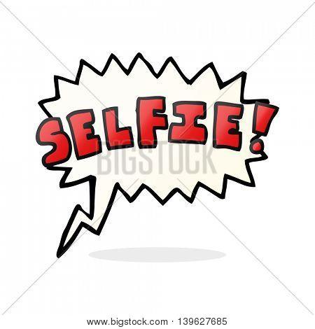 freehand drawn speech bubble cartoon selfie symbol