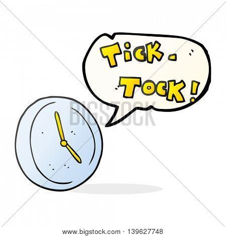 freehand drawn speech bubble cartoon ticking clock