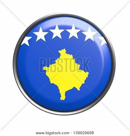 Button With Kosovo Flag