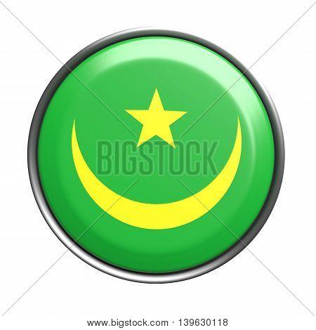 Silhouette Of Mauritania Button