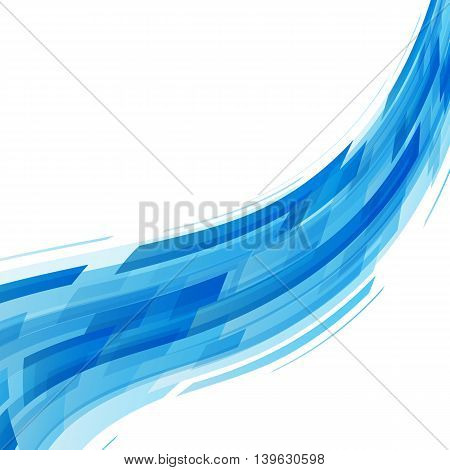 Abstract blue wave technology background, stock vector