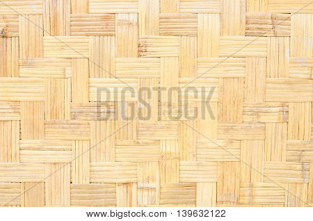 close up a woven bamboo pattern background