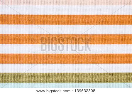 Colorful Striped Tablecloth As Background