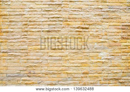 abstract brown bricks wall pattern texture background