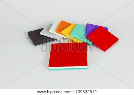 Polystyrene Forms In Different Colors And Sizes