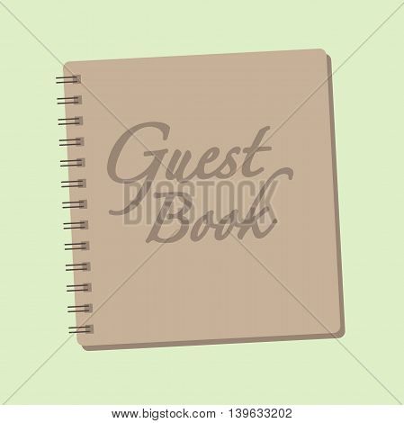 Spiral bound guest sign in book for Wedding or baby shower