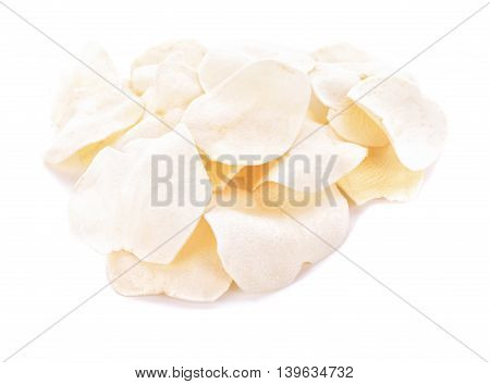 Arloo Potato (mun arloo) chips isolated on white background.