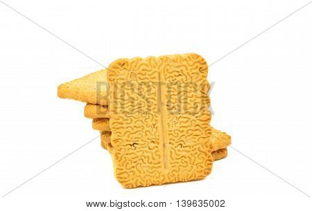 biscuits cracker dessert isolated on white background