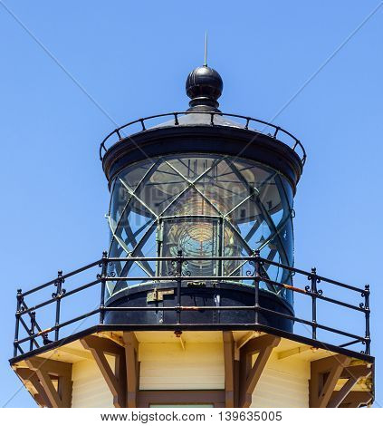 famous Point Cabrillo Lighthouse in California, USA