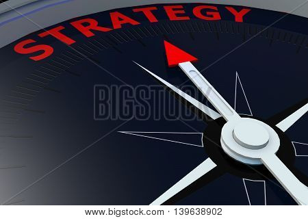 Black Compass With Strategy Word On It