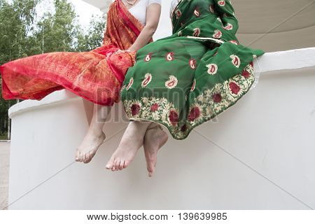 Legs Of A Girsl In Indian Saree