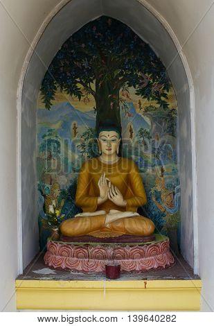 Dharmikarama Burmese Temple On Island Penang, Malaysia