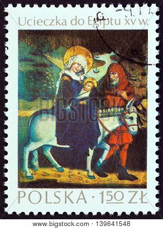 POLAND - CIRCA 1974: A stamp printed in Poland from the