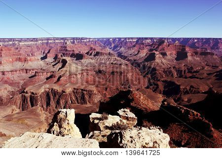 An arch in a ledge of the Grand Canyon National Park Utah
