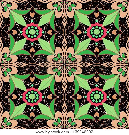 Seamless beautiful antique pattern ornament. Geometric background design repeating texture.