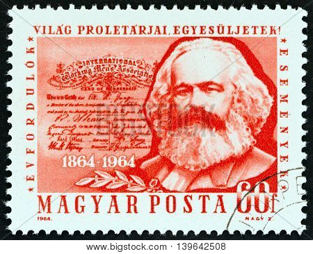 HUNGARY - CIRCA 1964: A stamp printed in Hungary from the