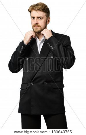 Portrait Of A Young Business Man, Isolated On White Background