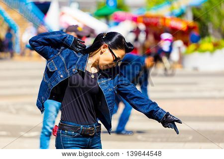 Female Rockabilly Dancing Jean Yoyogi Park Tokyo