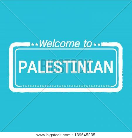an images of Welcome to PALESTINIAN illustration design
