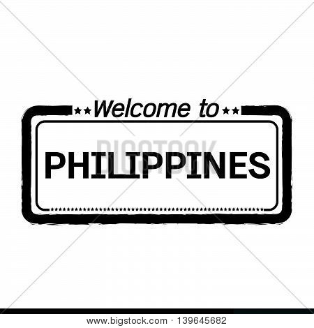 an images of Welcome to PHILIPPINES illustration design