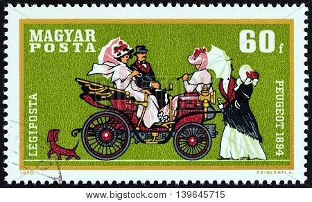 HUNGARY - CIRCA 1970: A stamp printed in Hungary from the
