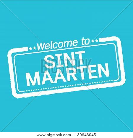 an images of Welcome to SINT MAARTEN illustration design
