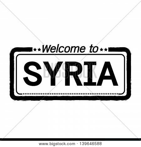 an images of Welcome to SYRIA illustration design