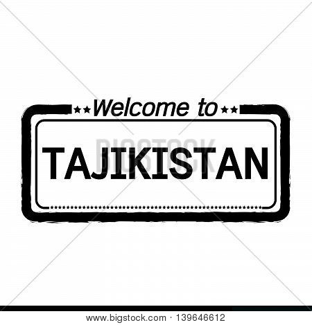 an images of Welcome to TAJIKISTAN illustration design