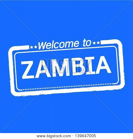an images of Welcome to ZAMBIA illustration design